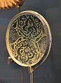 Platet de l'extrem superior d'un candeler, pisa blava de Manises, museu de Ceràmica de València.JPG
