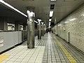 Platform of Awaza Station (Sennichimae Line).jpg