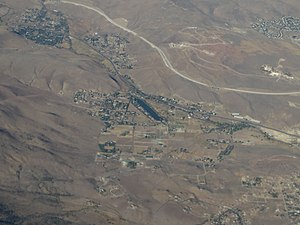 Pleasant Valley, Nevada - 2015 aerial photo of Pleasant Valley