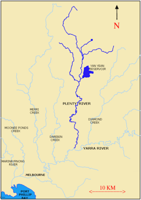 Carte de la Plenty River