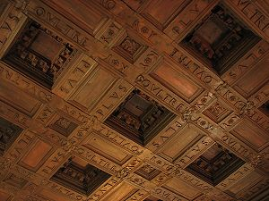 Plus ultra - Wooden paneling in Charles V's palace in the Alhambra