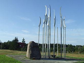 Battle of Maciejowice - A memorial of the battle near Podzamcze