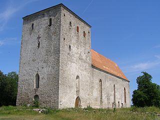 Pöide Village in Saare County, Estonia