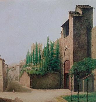 Della Cruscans - Porta a' Pinti English Cemetery, Florence, before 1827