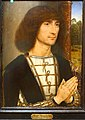 Portrait of a Young Man at Prayer, by Hans Memling, c. 1485 AD, oil on wood - Museo Nacional Centro de Arte Reina Sofía - Madrid, Spain - DSC08553.JPG