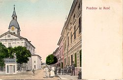 Old postcard from Renče