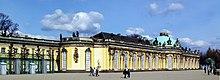 South, or garden facade and corps de logis of Sanssouci (Source: Wikimedia)
