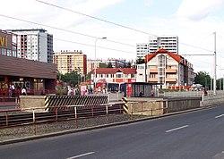 Prague Metro Ládví tram.jpg
