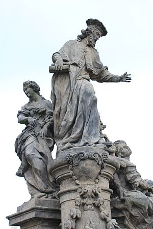Statue of Ivo of Kermartin, Charles Bridge - The statue in 2014