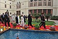 Pranab Mukherjee, the Vice President, Shri Mohd. Hamid Ansari, the Prime Minister, Shri Narendra Modi, the Speaker, Lok Sabha, Smt. Sumitra Mahajan, the Union Minister for Urban Development (1).jpg