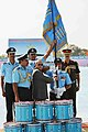 Pranab Mukherjee presenting the Standard to the 18 Squadron of Indian Air Force, at the President's Standard presentation ceremony, at Hasimara, in West Bengal. The Chief of the Air Staff.jpg