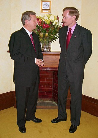Rann Government - Rann (left) with former US Deputy Secretary of State Robert Zoellick (right) in 2005.