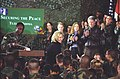 President Clinton, Hillary Rodham Clinton and Chelsea Clinton greet troops at Tuzla Air Force Base in Bosnia - Flickr - The Central Intelligence Agency.jpg