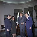 """President John F. Kennedy Meets with Planning Group for """"New York's Birthday Salute to the President"""" JFKWHP-KN-C20812.jpg"""