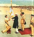 President Rajendra Prasad presenting the colours 1954.jpg