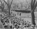 President Truman attends the Army Day parade in Washington, D. C. This is a distance view of the parade. - NARA - 199616.tif
