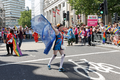 Pride in London 2016 - A parade member at Trafalgar Square.png
