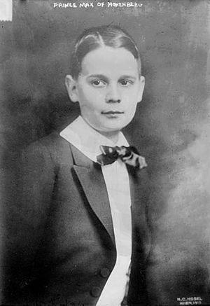 Maximilian, Duke of Hohenberg - Photograph from 1913