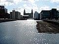 Princes Dock, toward Liver buildings (133318918).jpg