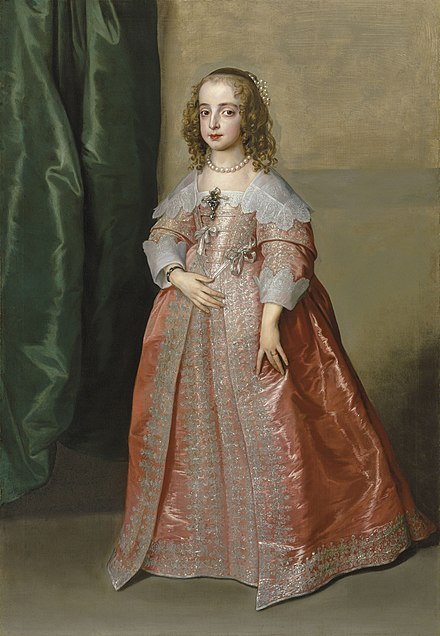 Mary on the day after her marriage, May 3, 1641; by Anthony van Dyck Princess Mary, daughter of King Charles I of England by Anthony Van Dyck.jpg