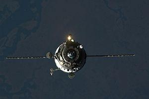 Progress M-02M - Progress M-02M approaching the ISS