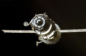 Progress M-49 - Progress M-49 departing the ISS