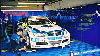 Proteam Motorsport - The Proteam Motorsport pit garage in the 2007 WTCC at Brands Hatch