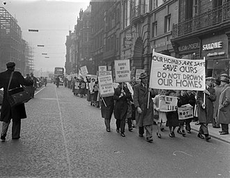 Capel Celyn - Protest in Liverpool attempting to stop the flooding of the Tryweryn Valley