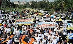 Uber manifestação
