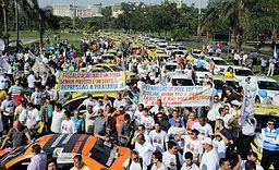 Protesto contra o Uber no Rio 02