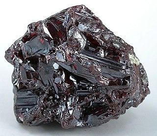 Proustite sulfosalt mineral