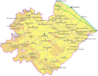 Province of Pesaro and Urbino - Map of the province