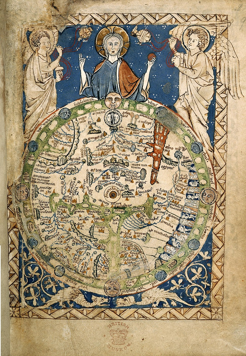 Psalter World Map, c.1265