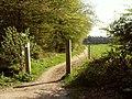 Public bridleway, leading to Waterend Lane - geograph.org.uk - 1263456.jpg