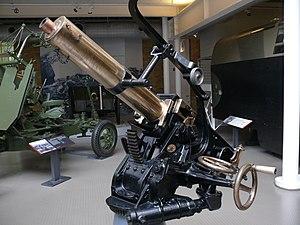 QF 1-pounder pom-pom - Image: QF1pounder Gun IWM April 2008
