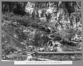 Queensland State Archives 3128 Junction of schist and tuff in cliff face Petrie Bight 11 October 1935.png