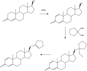 Quinbolone - Image: Quinbolone synthesis