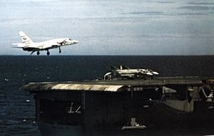 RA-5C RVAH-5 approaching USS Constellation (CVA-64) c1968.jpg