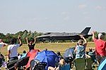 RIAT 2018 spectators showing their appreciation for F-35A display (29870625828).jpg