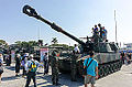 ROCMC M109A2 155mm Howitzer Display at Navy Fleet Command Ground 20141123.jpg