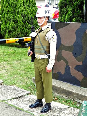 ROCMP Guard at Hsinchu AFB 20120602