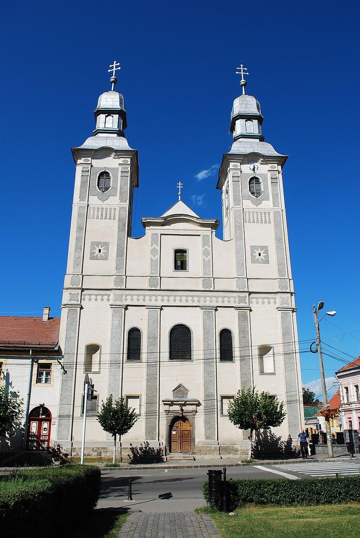 RO HR Odorheiu Secuiesc RomCat cathedral front
