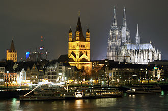 North Rhine-Westphalia - Cologne (Köln) is the largest city of North Rhine-Westphalia