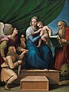 Raffaello Sanzio - Sacra Famiglia con Rafael, Tobia e San Girolamo, o Vergine del pesce.jpg