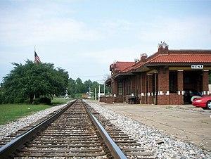 Mena, Arkansas - Depot in Mena