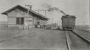 Hartsel, Colorado - Railroad Depot in Hartsel, 1916