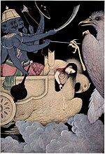 Ravana fighting with Jatayu