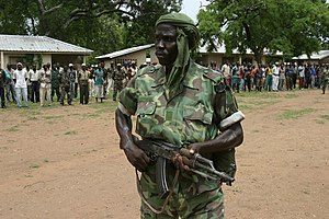 Central African Republic - Rebel militia in the northern countryside, 2007.