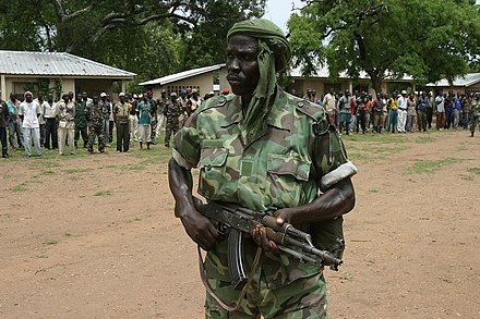 Rebel militia in the northern countryside, 2007. Rebel in northern CAR 01.jpg
