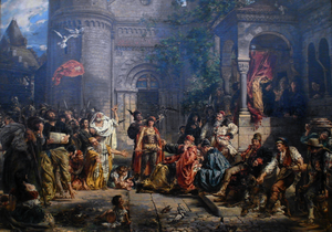 Reception of Jews in Poland by Jan Matejko 1889.png